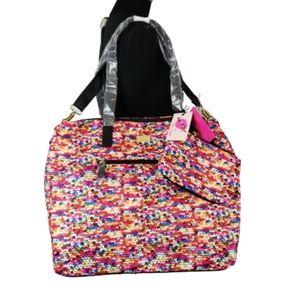 Betsy Johnson weekender travel bag